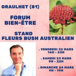 Patrick Donnadille Forum Graulhet 2019 Elixirs du Bush australien