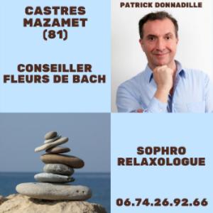 Patrick Donnadille Conseiller agréé fleurs de Bach et sophro-relaxologue Castres Mazamet